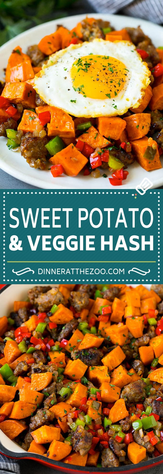 Sweet Potato Hash #sweetpotato #sausage #breakfast #brunch #dinneratthezoo