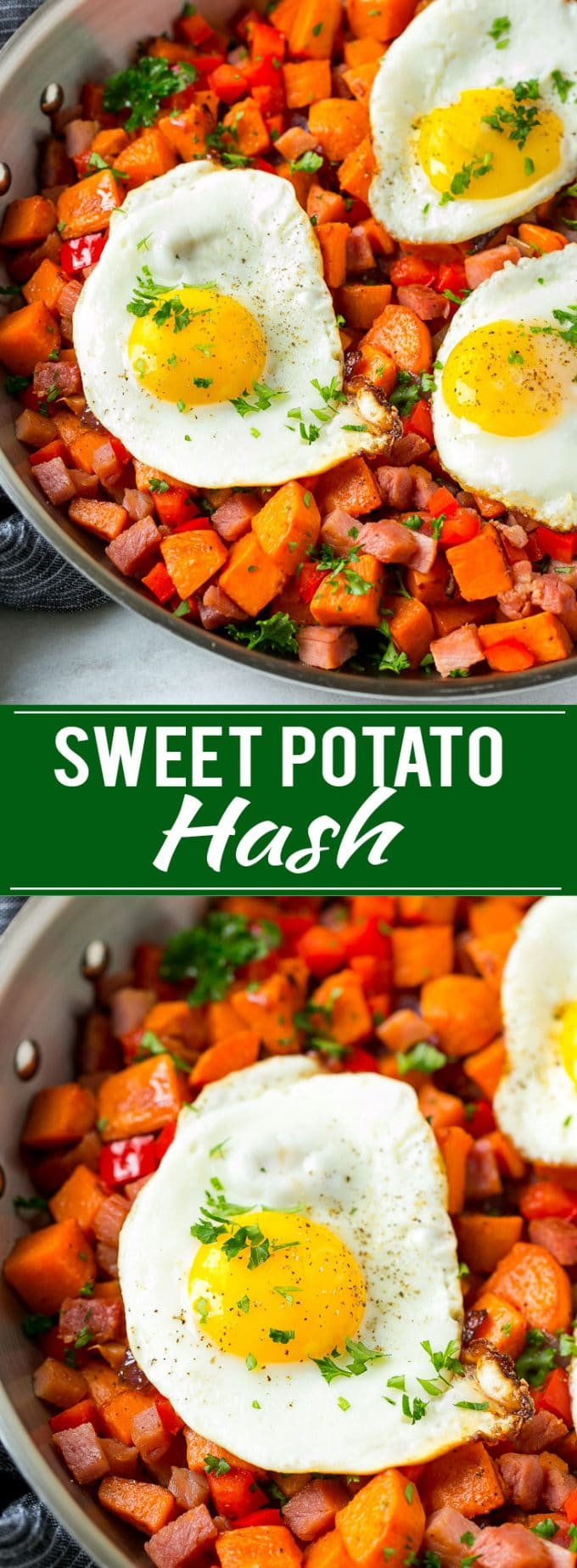 Sweet Potato Hash Recipe | Sweet Potato Recipe | Ham and Eggs | Breakfast Recipe | Easy Breakfast | Potato Hash
