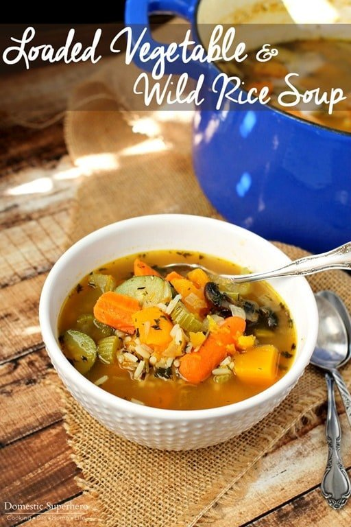 Loaded Vegetable and Wild Rice Soup