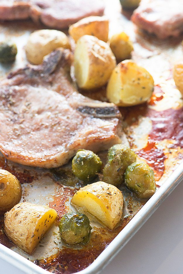 Sheet Pan Pork Chops and Potatoes