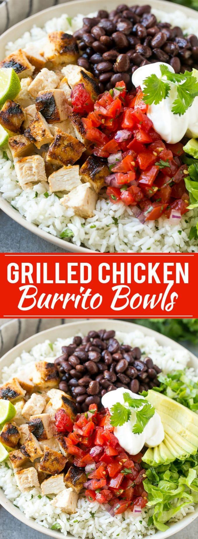 Chicken Burrito Bowls Recipe | Grilled Chicken Recipe | Burrito Bowl | Mexican Chicken