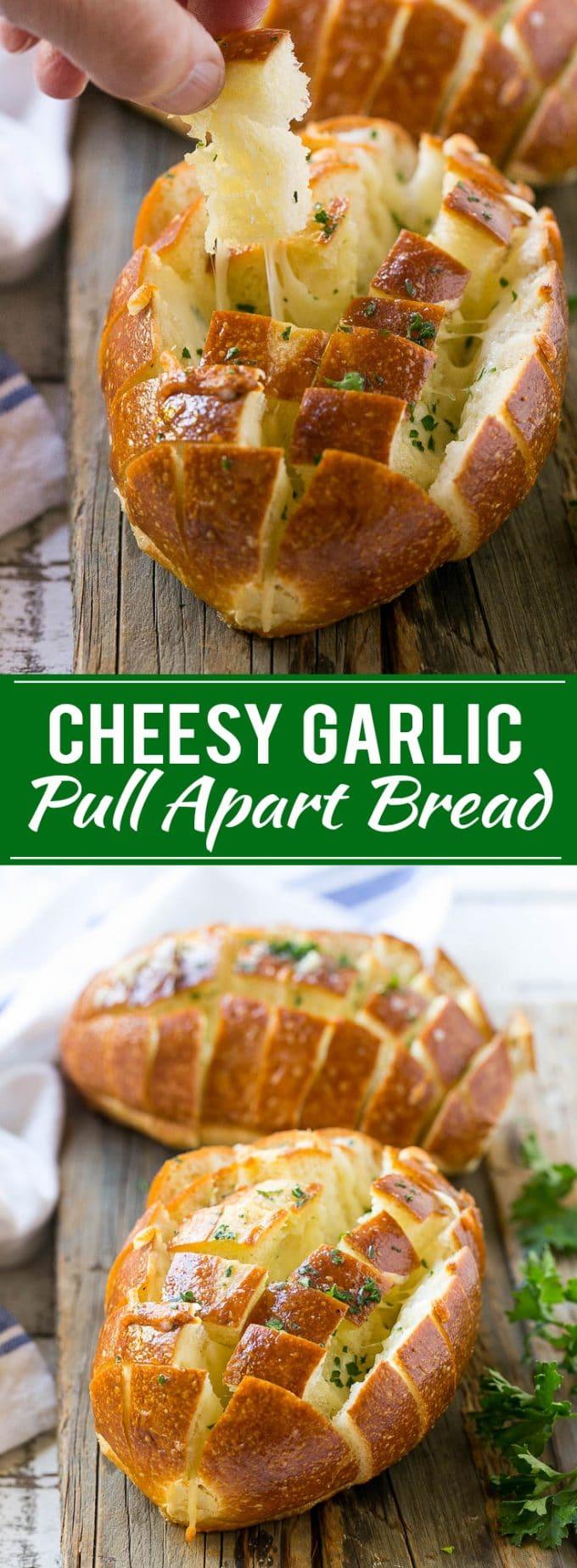 Cheesy Garlic Pull Apart Bread Recipe | Pull Apart Bread | Garlic Bread | Cheesy Bread | Easy Side Dish