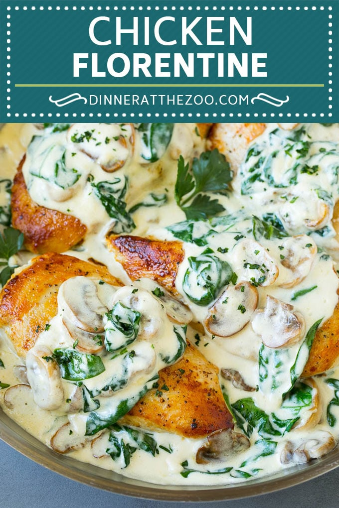 Chicken Florentine Recipe | Spinach Chicken | Mushroom Chicken #chicken #spinach #mushrooms #lowcarb #keto #dinner #dinneratthezoo