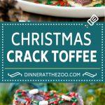 Christmas Crack Toffee Recipe   Saltine Toffee   Christmas Toffee #toffee #chocolate #christmas #candy #dessert #dinneratthezoo