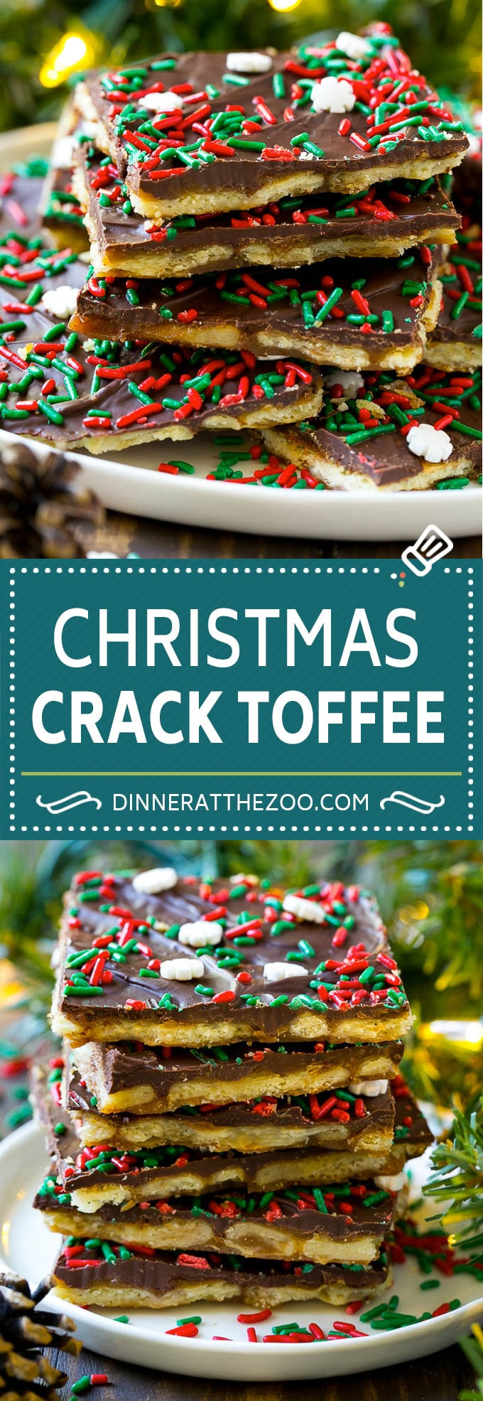Christmas Crack Toffee Recipe | Saltine Toffee | Christmas Toffee #toffee #chocolate #christmas #candy #dessert #dinneratthezoo