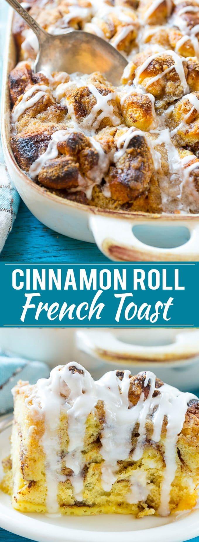 Cinnamon Roll French Toast Recipe | Cinnamon Roll Casserole | Breakfast Casserole | Cinnamon Rolls | French Toast Casserole