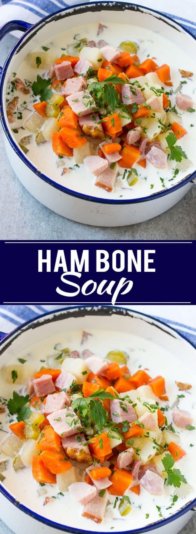 Ham Bone Soup | Ham Soup | Creamy Ham Soup | Soup Recipe | Ham and Potato Soup | Easy Soup