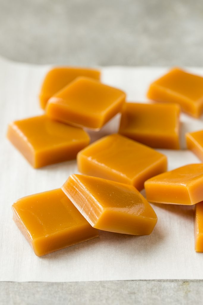 This recipe for microwave caramels is an impressive treat that's ready in just minutes - top the caramels with a generous sprinkle of sea salt to really make them special!