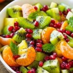 Winter Fruit Salad + Cheddar Broccoli Soup
