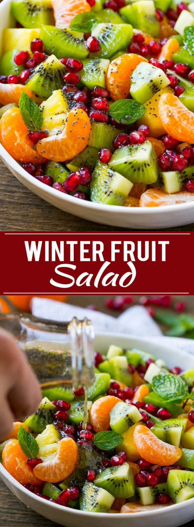 Winter Fruit Salad | Fruit Salad | Fruit Recipe | Healthy Fruit Recipe | Pomegranate Recipe | Kiwi Recipe | Orange Recipe | Pineapple Recipe