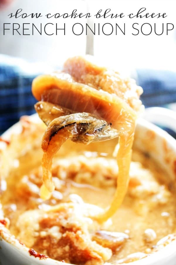 Slow Cooker Blue Cheese French Onion Soup