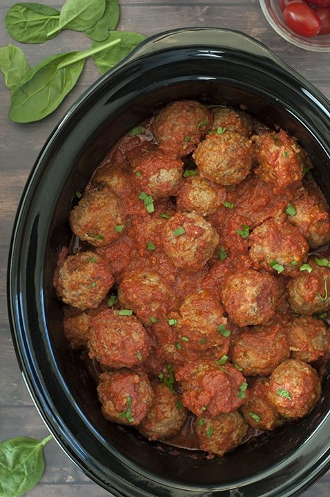 Crock Pot Italian Meatballs {Wishes & Dishes}