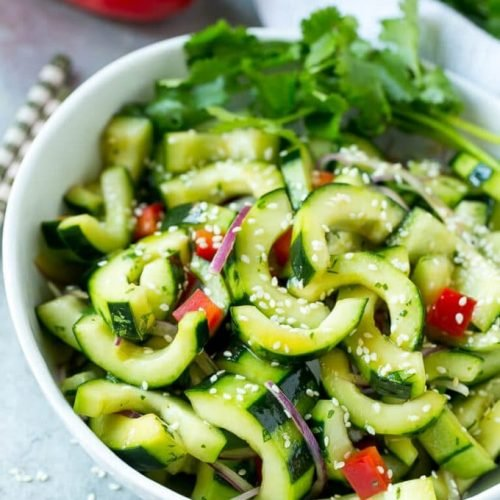 How to make asian cucumber salad dressing