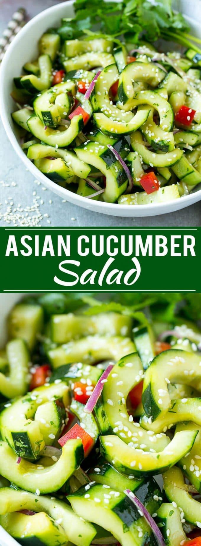 Asian Cucumber Salad Recipe | Sesame Cucumber Salad | Cucumber Salad | Healthy Salad | Healthy Cucumber Recipe