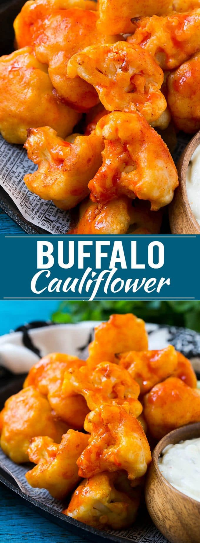 Buffalo Cauliflower Bites Recipe | Roasted Cauliflower | Buffalo Cauliflower Wings | Baked Cauliflower #cauliflower #appetizer #snack #dinneratthezoo