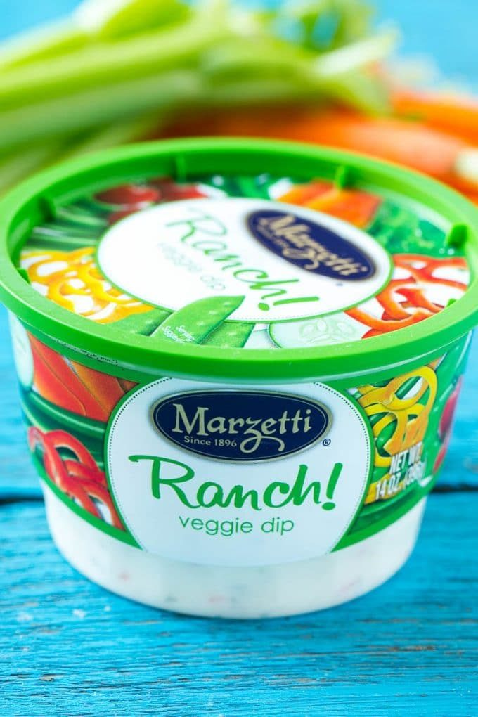 Marzetti Ranch veggie dip.