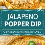 Jalapeno Popper Dip #jalapeno #dip #bacon #cheese #appetizer #dinneratthezoo
