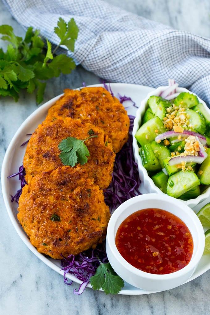 Thai Salmon Fish Cakes Recipe Easy