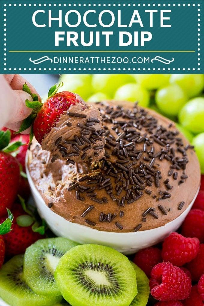 Chocolate Fruit Dip Recipe | Chocolate Dip | Dessert Dip #chocolate #dip #fruit #dessert #glutenfree #dinneratthezoo