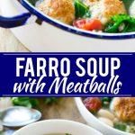 Farro Soup with Meatballs Recipe | Farro Recipe | Meatball Soup | Healthy Soup Recipe