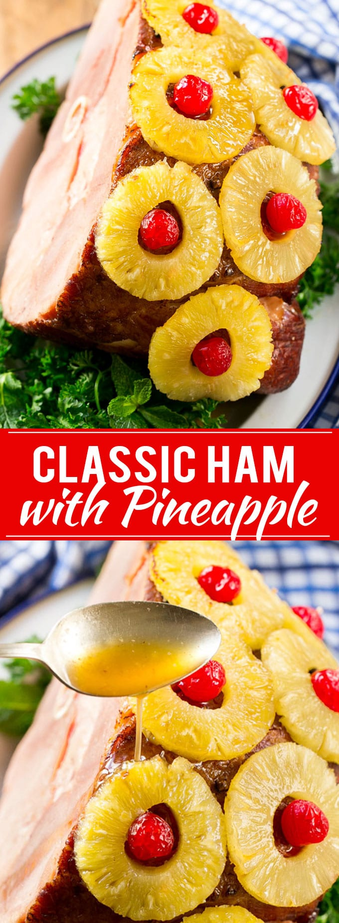 Jamaican Christmas Ham.Ham With Pineapple And Cherries Dinner At The Zoo