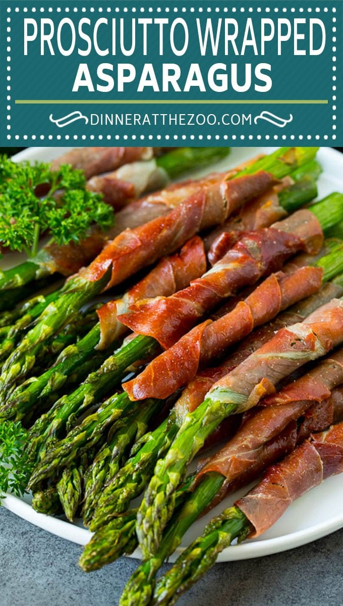 This prosciutto wrapped asparagus is fresh asparagus stalks flavored with savory prosciutto, then broiled to crispy perfection.