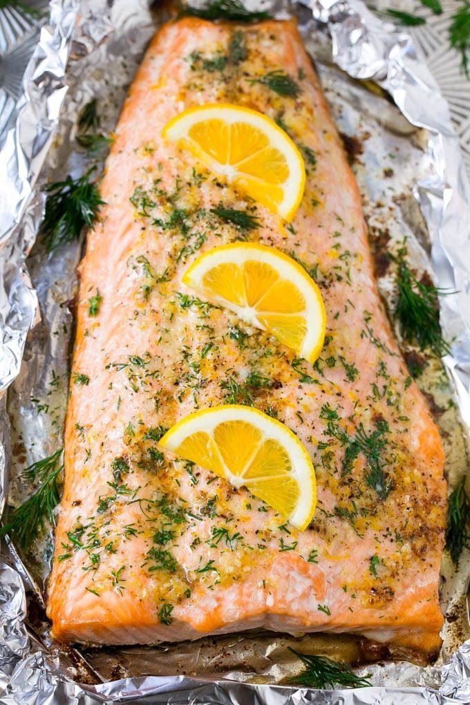 Salmon In Foil With Lemon And Dill Dinner At The Zoo