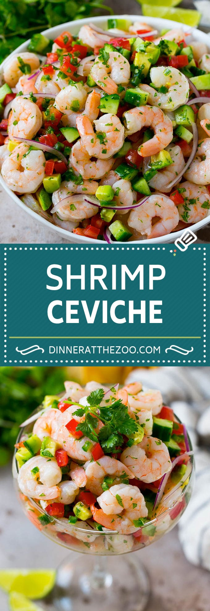 Shrimp Ceviche Recipe | Mexican Shrimp | Marinated Shrimp #shrimp #ceviche #cleaneating #healthy #lowcarb #keto #glutenfree #dinner #appetizer #dinneratthezoo