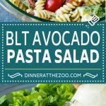 BLT Pasta Salad Recipe | Easy Pasta Salad | Bacon Pasta Salad #salad #pasta #blt #bacon #avocado #dinner #dinneratthezoo