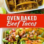 Oven Baked Beef Tacos Recipe | Crispy Beef Tacos | Beef Taco Recipe | Baked Taco Recipe