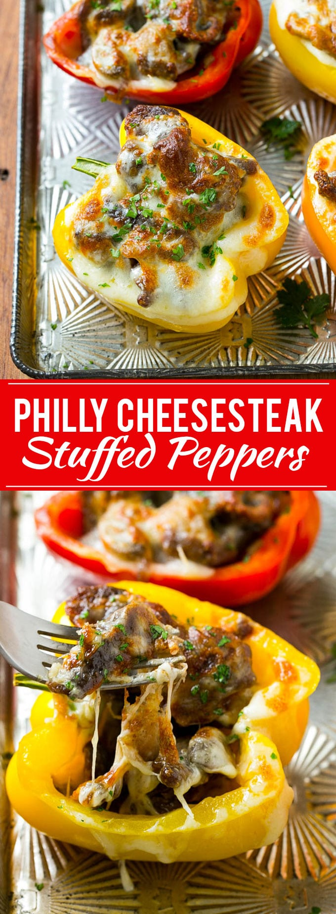 Philly Cheesesteak Stuffed Peppers Recipe | Easy Stuffed Peppers | Low Carb Stuffed Peppers #peppers #steak #cheese #mushrooms #lowcarb #keto #dinner #dinneratthezoo