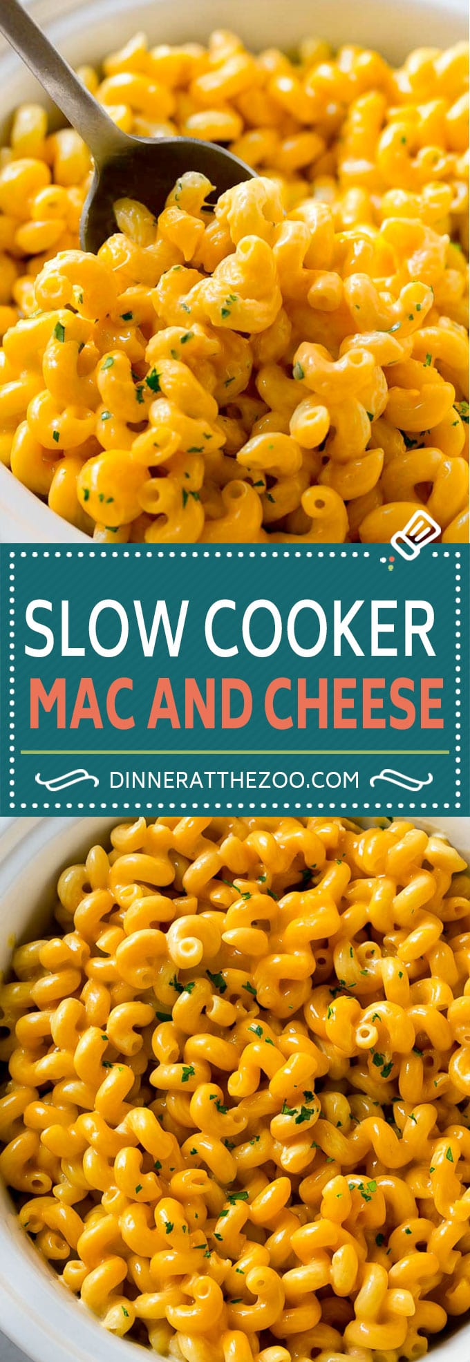 Slow Cooker Mac and Cheese | Crock Pot Macaroni and Cheese | Homemade Macaroni and Cheese | Mac and Cheese Recipe #macandcheese #pasta #cheese #slowcooker #crockpot #dinneratthezoo