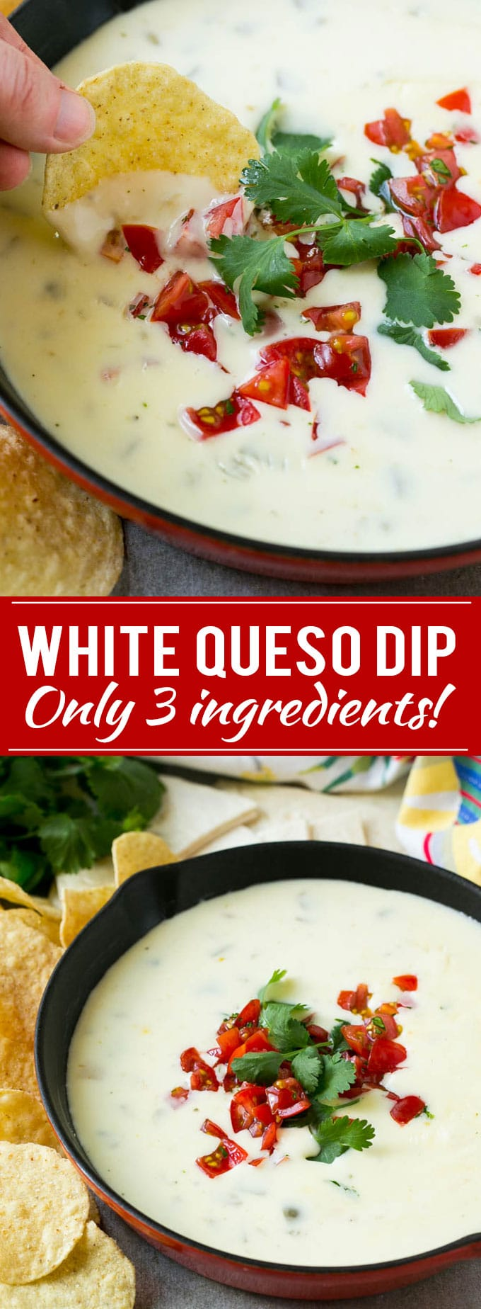 how to make white queso dip