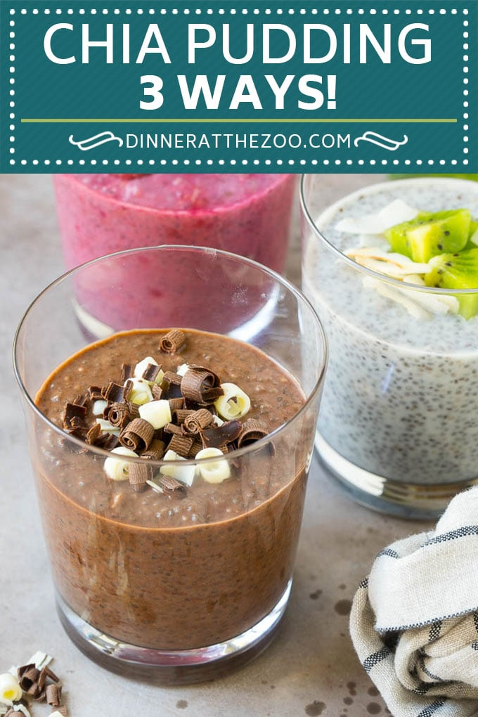 Chia Pudding Recipe | Chocolate Chia Pudding | Coconut Chia Pudding | Raspberry Chia Pudding #chia #pudding #breakfast #dessert #vegan #glutenfree #dairyfree #dinneratthezoo