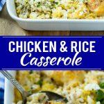 Chicken and Rice Casserole Recipe | Chicken and Rice Bake | Cream of Mushroom Chicken Casserole | Chicken Casserole Recipe