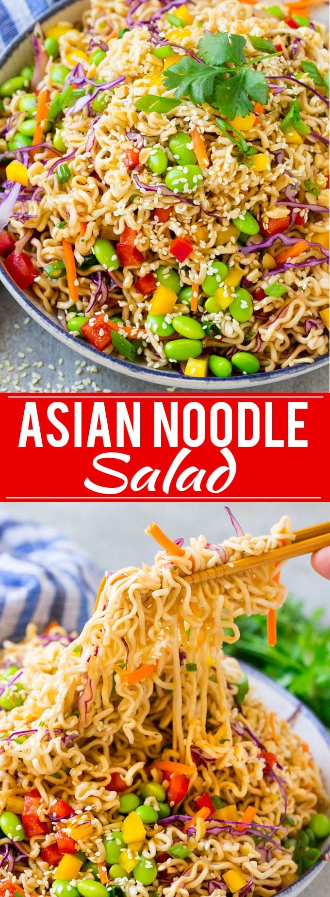 Asian Noodle Salad Recipe | Ramen Noodle Salad | Asian Salad #salad #noodles #edamame #vegetarian #dinneratthezoo #lunch