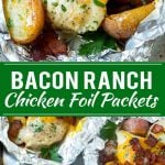 Bacon Ranch Chicken Foil Packets | Chicken in Foil | Foil Packet Recipe | Ranch Chicken