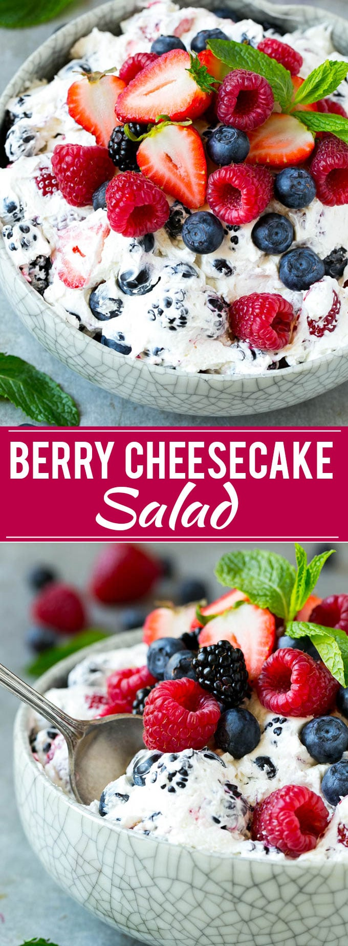 Berry Cheesecake Salad Recipe | Fruit Salad | Berry Fruit Salad | Cheesecake Salad