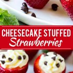Cheesecake Stuffed Strawberries Recipe | No Bake Dessert Recipe | Stuffed Strawberries | No Bake Cheesecake Recipe