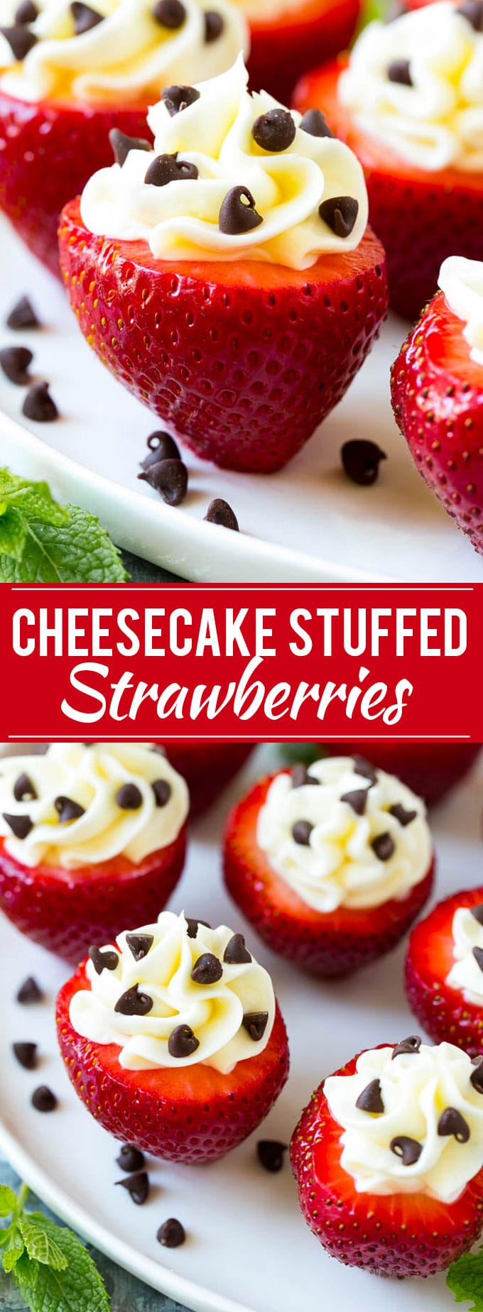 Cheesecake Stuffed Strawberries Recipe | No Bake Dessert Recipe | Stuffed Strawberries | No Bake Cheesecake Recipe #cheesecake #strawberries #fruit #dessert #dinneratthezoo