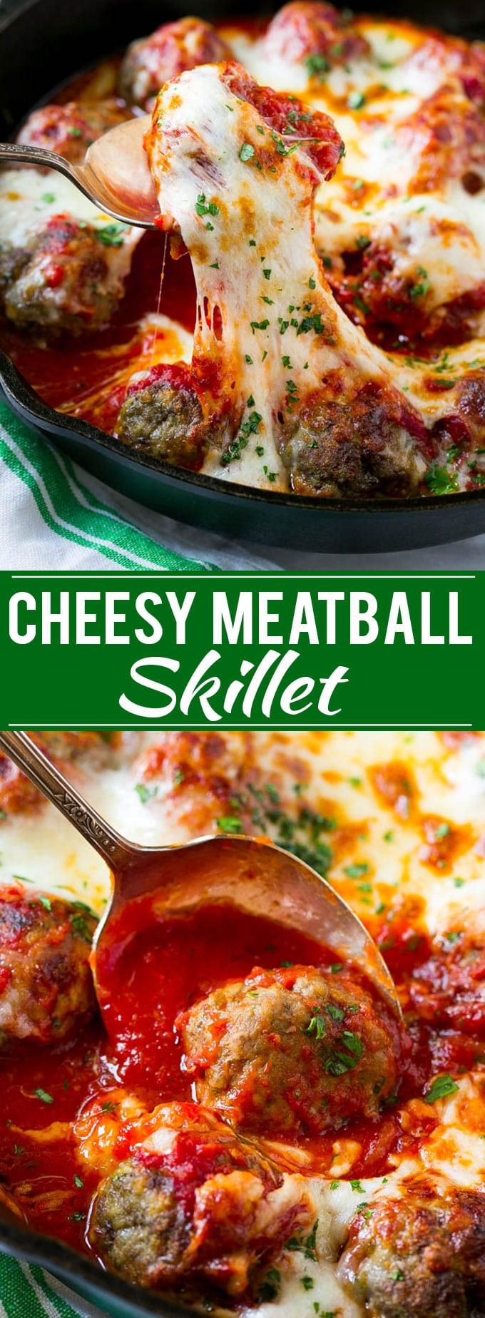 Cheesy Meatball Bake Recipe | Meatball Skillet | Italian Meatballs | Baked Meatball Recipe #meatballs #beef #cheese #dinner #dinneratthezoo
