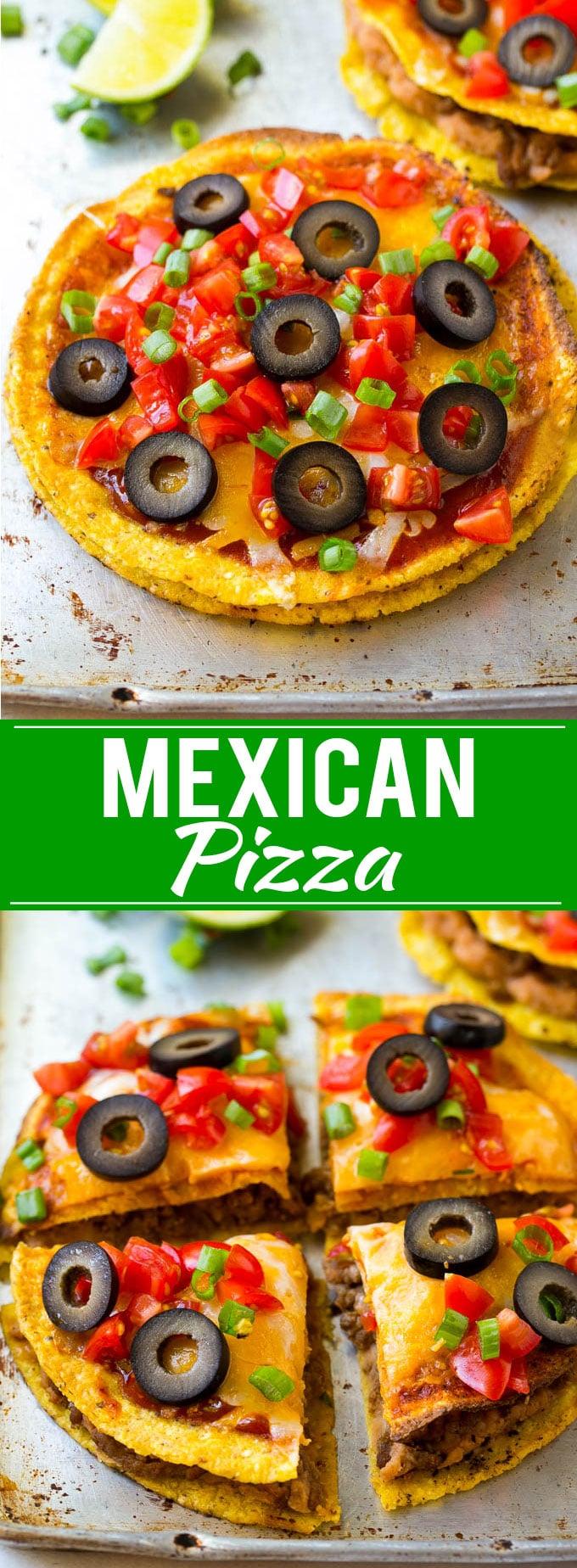 Mexican Pizza Recipe | Tostada Recipe | Taco Bell Copycat Recipe | Easy Mexican Food #mexicanfood #pizza #beef #tostada #dinner #dinneratthezoo