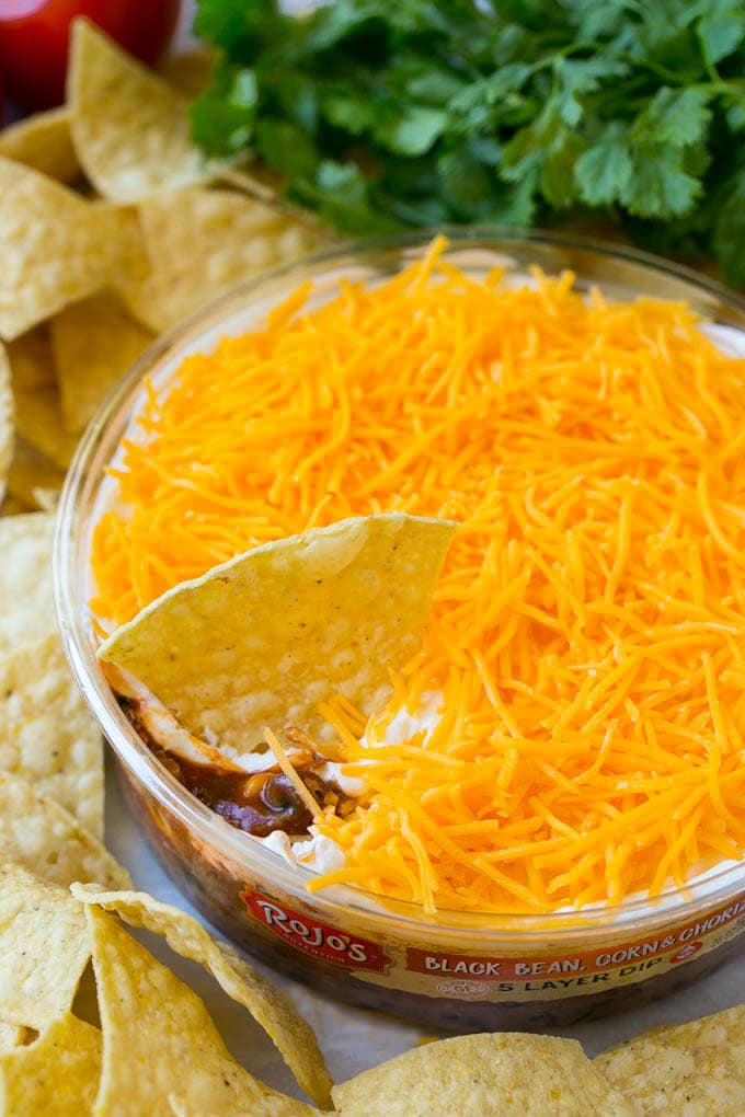 Black Bean, Corn & Chorizo 5-Layer Dip