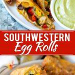Southwestern Egg Rolls Recipe | Easy Egg Roll Recipe | Mexican Appetizer | Egg Roll Recipe | Southwest Egg Rolls