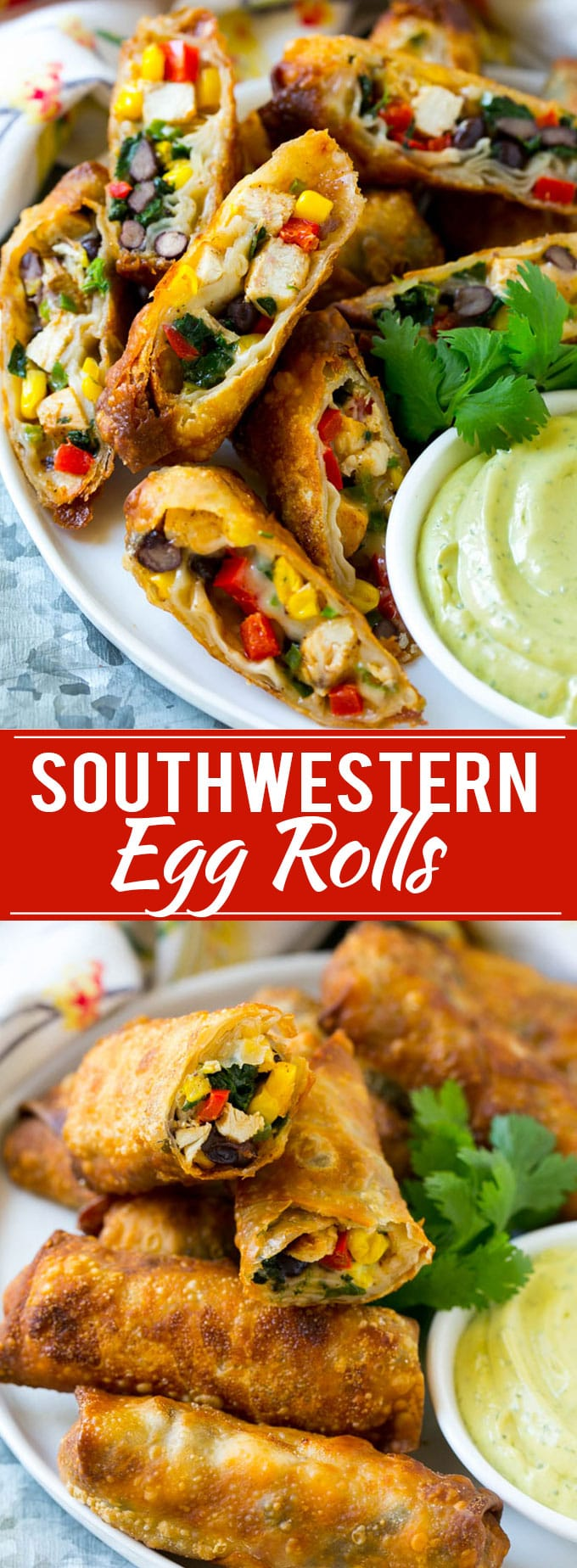 Southwestern Egg Rolls Recipe | Easy Egg Roll Recipe | Mexican Appetizer | Egg Roll Recipe | Southwest Egg Rolls