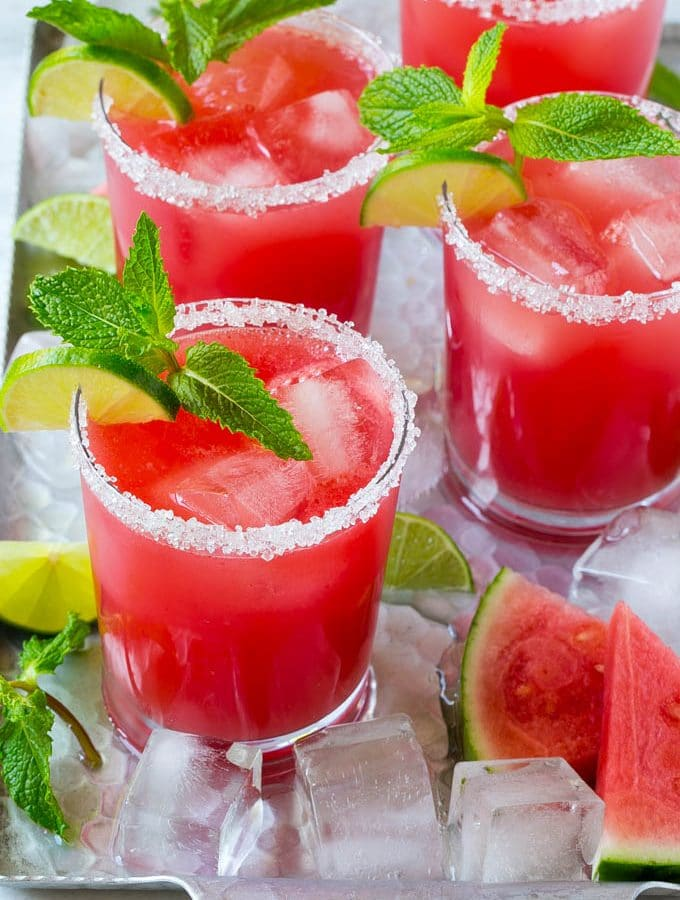 Watermelon Agua Fresca + Black Bean, Corn and Chorizo 5-Layer Dip