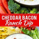 Bacon Ranch Dip Recipe | Homemade Ranch Dip | Easy Dip Recipe | Cheddar Ranch Dip