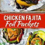Chicken Fajita Foil Packet Recipe | Chicken Fajita Recipe | Foil Pack Recipe | Mexican Chicken