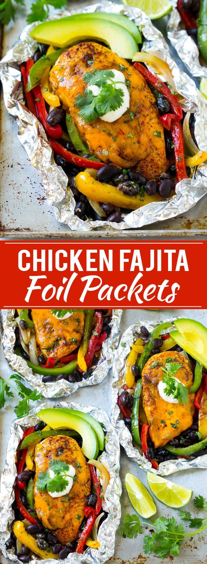 Chicken Fajita Foil Packet Recipe | Chicken Fajita Recipe | Foil Pack Recipe | Mexican Chicken