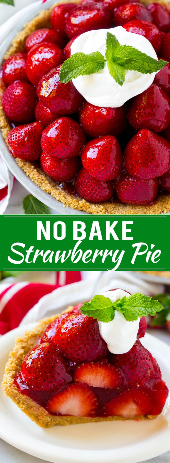 No Bake Strawberry Pie Recipe | Fresh Strawberry Pie | Strawberry Pie Recipe | No Bake Pie Recipe